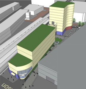 The concept creates new development opportunities for CTA and Truman College.